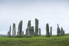 Callanish-Steine auf der Insel von Lewis schottland Lizenzfreie Stockbilder