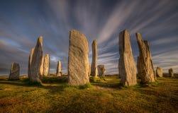 Callanish stenar fotografering för bildbyråer