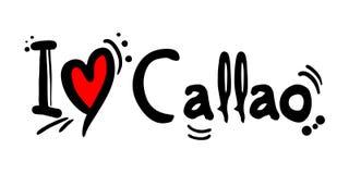 Callao city of Peru love message Stock Photo