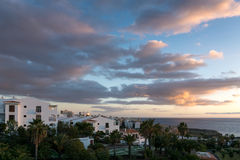 CALLAO SALVAJE, TENERIFE/SPAIN - 18. JANUAR 2015: Sonnenuntergang an Ca lizenzfreies stockbild