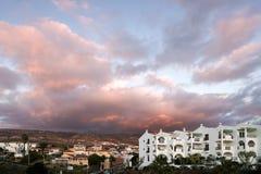 CALLAO SALVAJE, TENERIFE/SPAIN - 18. JANUAR 2015: Sonnenuntergang an Ca stockfotografie