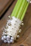 Callas wedding bouquet. White wedding bouquet of callas Stock Photography