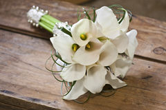 Callas wedding bouquet Royalty Free Stock Photography