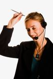 Callcenter Fotografie Stock