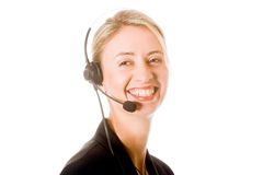 Callcenter Photographie stock