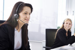 Callcenter Agent Women royalty free stock image