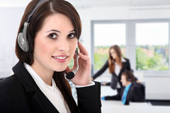 Callcenter agenta kobiety Obrazy Stock