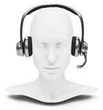 The callcenter employee. 3d generated picture of a callcenter employee Royalty Free Stock Photography