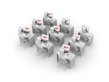 Callcenter. Los clientes necesitan ayuda Imagen de archivo libre de regalías