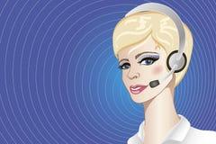 A callcenter operator Stock Photos