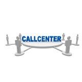 Callcenter. People around the word callcenter Stock Image