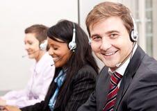 Callcenter usługa komunikacja w biurze Zdjęcia Stock