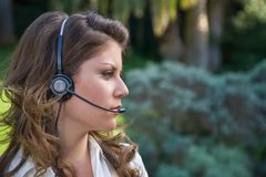 Callcenter woman Royalty Free Stock Images