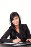 Callcenter woman headset Royalty Free Stock Photos
