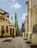 Calle孔波斯特拉在哈瓦那 免版税库存照片