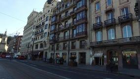 Calle阿雷纳尔街道看法,从阿里亚加广场 越桔 西班牙 股票视频