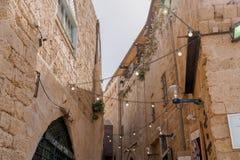 Calle árabe antigua de la ciudad imagenes de archivo