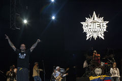 Calle 13 στη συναυλία Στοκ εικόνα με δικαίωμα ελεύθερης χρήσης