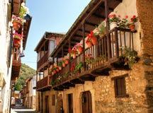 Calle реальное, улица в Molinaseca Стоковые Фото
