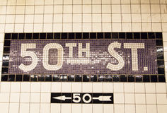 50.a calle Fotos de archivo
