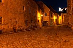Calle abandonada de Bratislava Foto de archivo libre de regalías