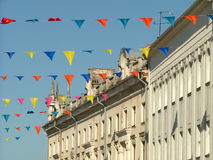 Calle adornada Fotografía de archivo