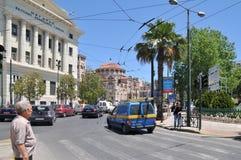 Calle alrededor del puerto de Pireo, Atenas, Grecia Fotos de archivo libres de regalías