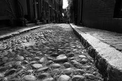 Calle América temprana de la bellota foto de archivo