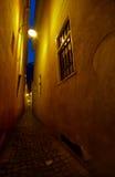 Calle amarilla Imagenes de archivo