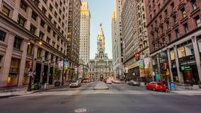 Calle amplia, Philadelphia, Pennsylvania, los E.E.U.U. almacen de metraje de vídeo