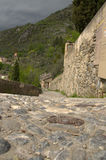 Calle antigua del guijarro Imagenes de archivo