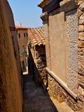 Calle antigua en Tosca del Mare Foto de archivo