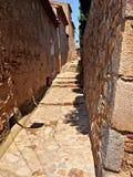 Calle antigua en Tosca del Mare Fotografía de archivo