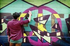 Calle Art Culture Spray Abstract Concept de la pintada Imagen de archivo libre de regalías