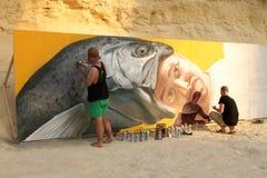 Calle Art Festival de Sliema Foto de archivo libre de regalías