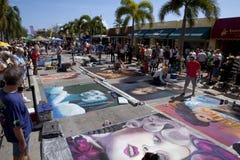 Calle Art Festival en el lago digno de la Florida Foto de archivo