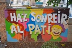 Calle Art Happy Message Fotos de archivo