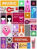 Calle Art Poster Template Design Imagen de archivo