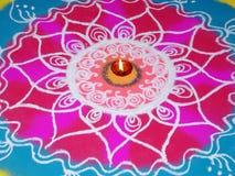 Calle Art-Rangoli2 Imagen de archivo libre de regalías
