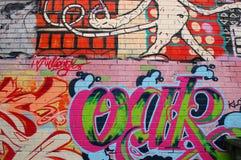 Calle Art Wall de la pintada Foto de archivo