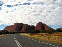 Calle a Australia interior Foto de archivo libre de regalías