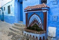 Calle azul Fotos de archivo