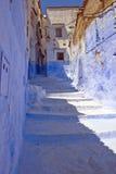 Calle azul Foto de archivo libre de regalías