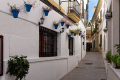 Calle Blanco, Cordoba, Spain Royalty Free Stock Photography