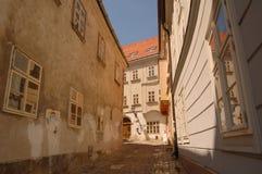Calle Bratislava del verano foto de archivo