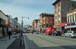 Calle Brooklyn Nueva York de Fulton Imágenes de archivo libres de regalías