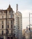 Calle Bucarest Rumania de Victoriei Imagen de archivo