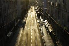 Calle céntrica de Lisboa Foto de archivo