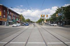 Calle canadiense brillante Fotografía de archivo libre de regalías