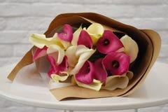 Calle in carta di imballaggio Concetto del salone del fiore fotografie stock libere da diritti